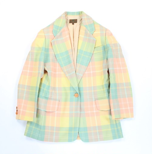 .ETRO CHECK PATTERNED TAILORED JACKET MADE IN ITALY/エトロチェック柄テーラードジャケット 2000000036519