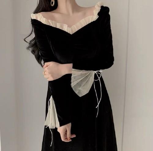 black elegance dress