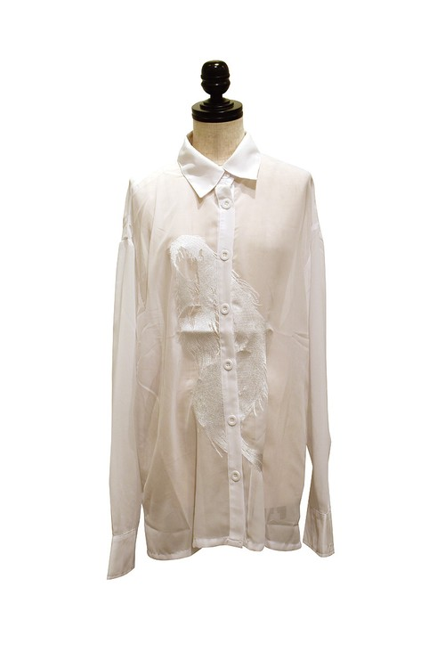 IKUMI / GIRL GHOST SHIRT / WHITE