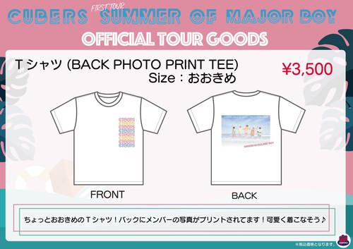 Tシャツ(BACK PHOTO PRINT TEE)★残りわずか★