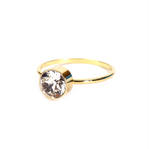 1 Stone Ring - Gold