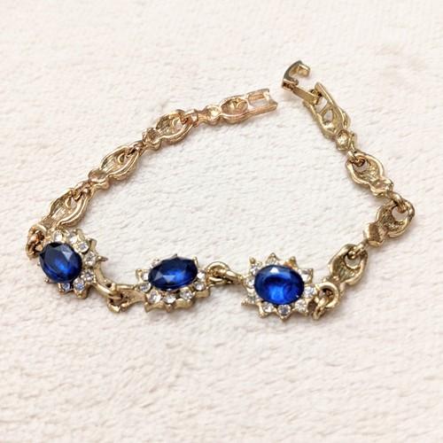 customized vintage -capri blue- bracelet
