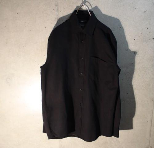 Black Fake Suede Shirt