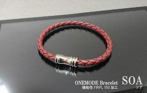 ONEMODE 機能性ブレスレット SOA DARK RED
