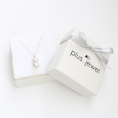 ■twins akoya pearl necklace -white-■ ツインズアコヤパールネックレス ホワイト