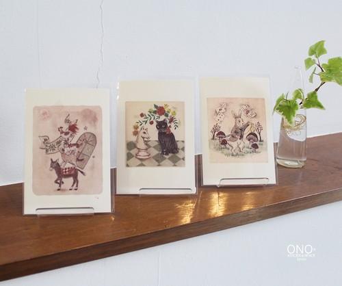 PUKU* 銅版画作品ポストカード