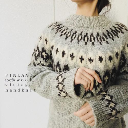 FINLAND vintage hand knit