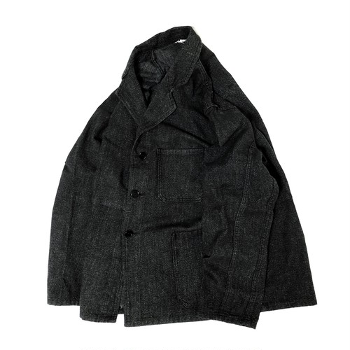 """40's """"FRENCH VINTAGE"""" BLACK  CHAMBRAY MARTINGALE JKT"""