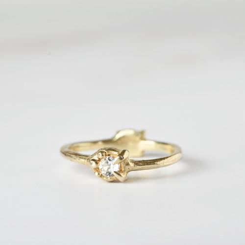 2-way ring (ホワイトトパーズ×ゴールド)