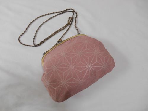 帆布製 ヴィンテージピンク 麻の葉 銀