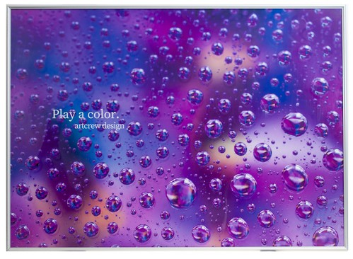 Play a color. ~Polka dot purple~  A1サイズ アルミ調額入り