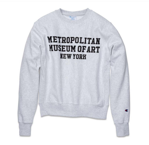 The MET x Champion Met Campus Crew Neck Sweatshirt