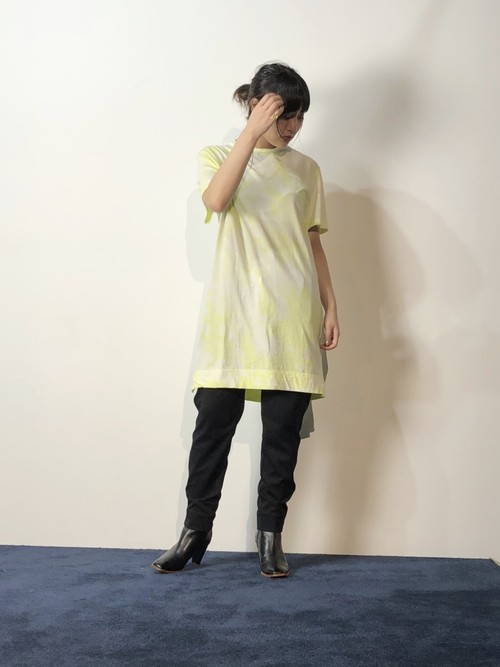 【20AW】bassike ベイシーク / Yellow tie-dye T-shirt