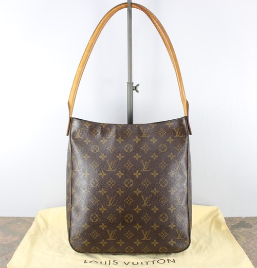 .LOUIS VUITTON M51145 DU1001 MONOGRAM PATTERNED BAG HAND MADE IN FRANCE/ルイヴィトンルーピングモノグラムハンドバッグ 2000000040523