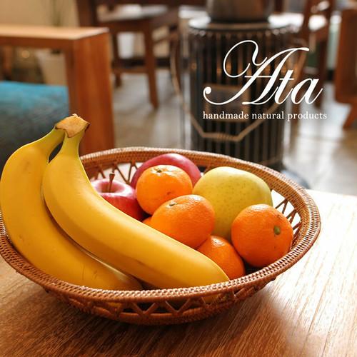 ■当日出荷■アタ製 透かし編みが可愛い!大きくて丸い かごボウルL A41(かご、ボウル、皿、小物入れ、お菓子入れ、果物かご)