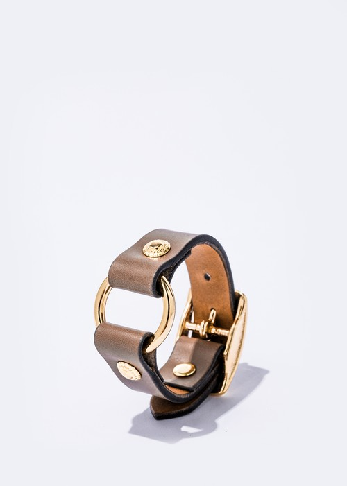 Ring Bracelet gray/gold