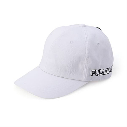 FULL-BK - SIDE LOGO FULLBLANK CAP (WHITE) -