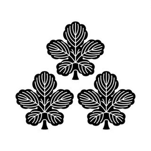三つ盛り梶の葉 aiデータ