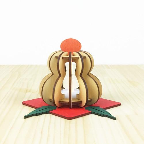 「鏡餅」木製ミニランプ 照明 インテリア かわいい 正月飾り