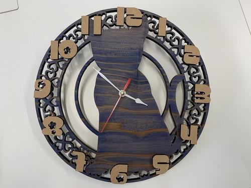 木製壁掛け時計(猫)
