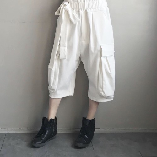 Sarueru cargo pants / white【AS SUPER SONIC】