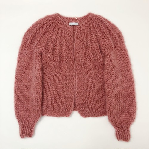 Maiami  mohair pleated cardigan short