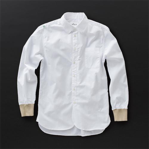 メンズ ロングシャツ 白×羊