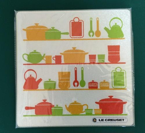 LE CREUSET(ル・クルーゼ)強化ガラスキッチンプレート