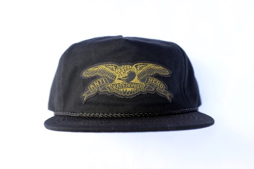 ANTIHERO STOCK EAGLE PATCH SNAPBACK CAP BLACK/OLIVE アンチヒーロー