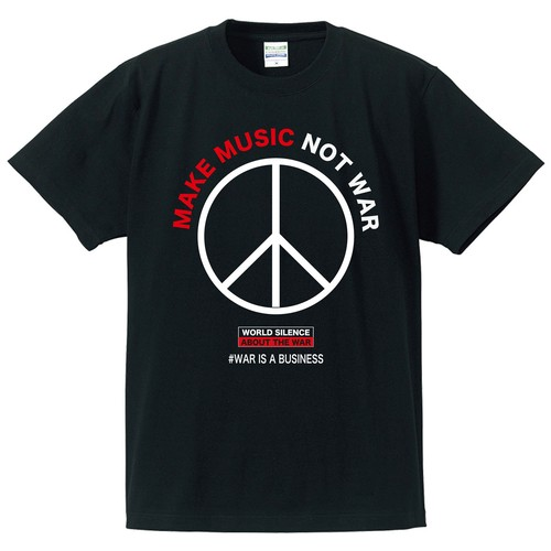 MAKE MUSIC NOT WAR(T-SHIRT) RED PRINT
