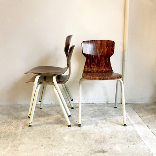 """""""eromes"""" Stacking School Chair 60's オランダ / M size"""