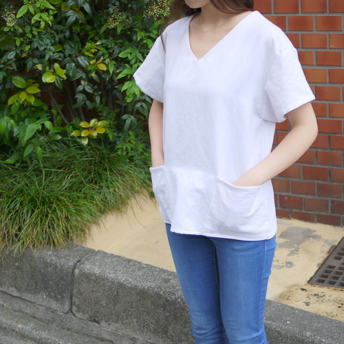 Old linen pullover shirt