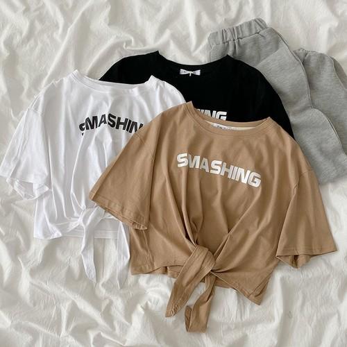 レディース 夏 可愛い オシャレ ラウンドネック 半袖 着痩せ Tシャツ・トップス