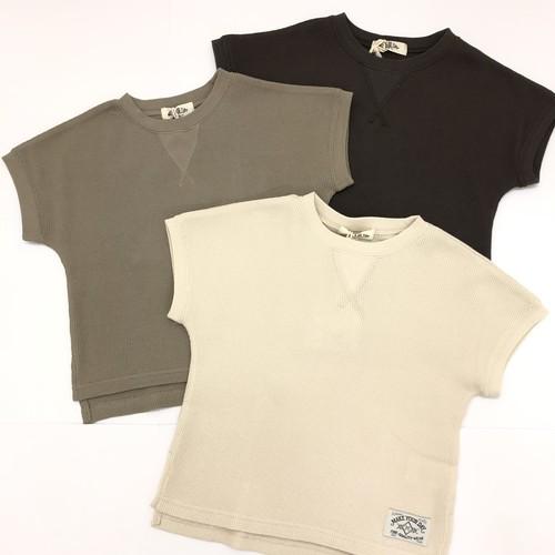 MAKE YOUR DAY メイクユアデイ ワッフルフレンチTシャツ (ジュニアサイズ) M120129J