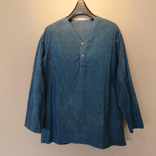 【DEAD STOCK】ロシア軍 スリーピングシャツS/S 藍染め