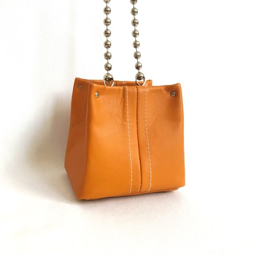 Cube Chain Bag 《camel》