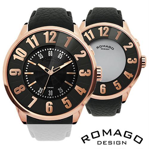 ★西内まりや着用モデル★【ROMAGO ロマゴ】ミラー文字盤腕時計 RM007-0053ST-RG