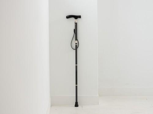 4段折畳式伸縮杖シナノ  グランドカイノスブラック「千鳥格子」