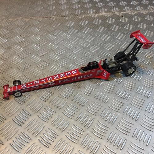 品番6167-1 1/64スケール ドラッグレーシングカー BUDWEISER キング・オブ・スピード ケニー・バーンスタイン レッド ダイキャストカー ヴィンテージ 011