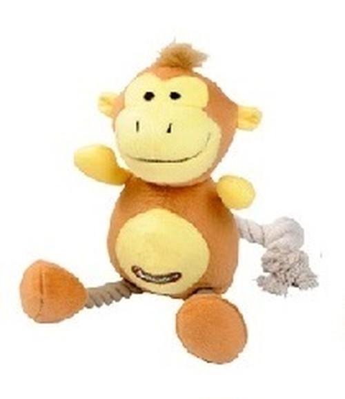 犬用ロープおもちゃ TopZoo ジャングルフレンズ モンキー