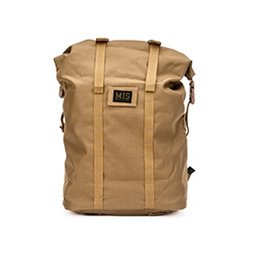 MIS-1009 ROLL UP  BACKPACK -  COYOTE BROWN