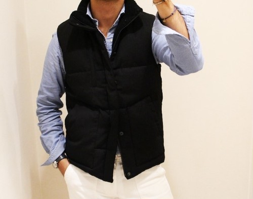 biography Stand Collar Down Vest