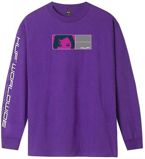 HUF ハフ WONDERLAND L/S TEE グラフィックプリント 長袖Tシャツ 2カラー 8344912 [並行輸入]