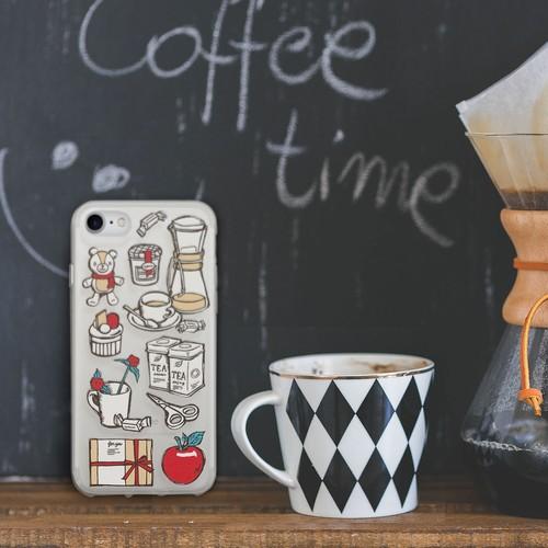 【S/Msize】Coffee Time ハードケース #iPhoneX対応