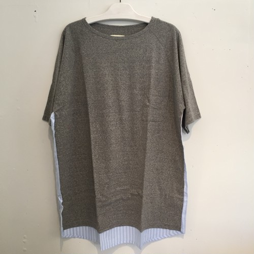 【VOO】GOOD COMBO TEE SU VOO-678 [GRAY]
