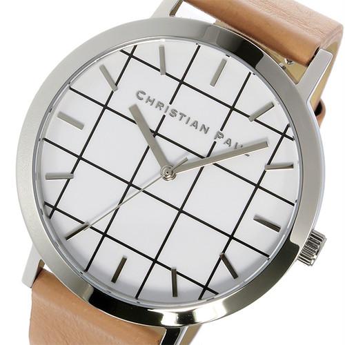 クリスチャンポール CHRISTIAN PAUL グリッド AIRLIE ユニセックス 腕時計 GR-04 シルバー/ベージュ ホワイト