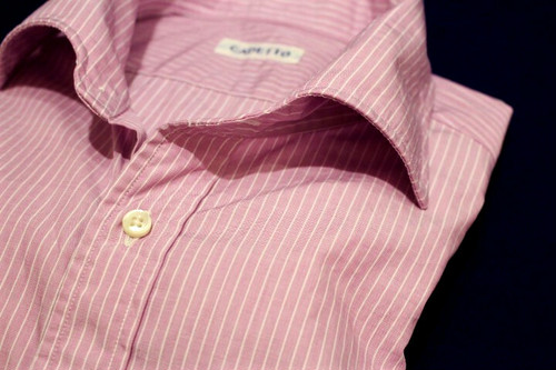CADETTO ORIGINALS SHIRTS Purple Pink×White Stripe