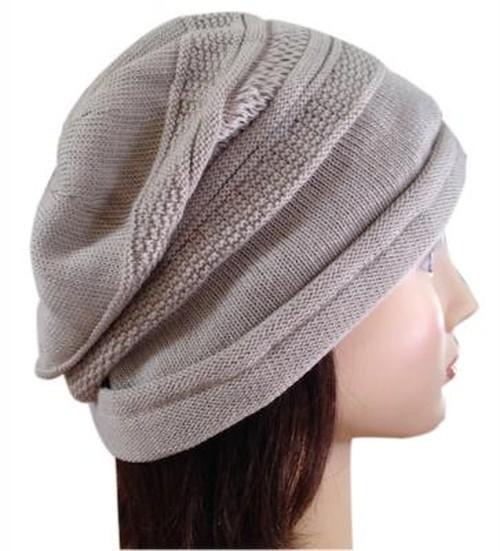 綿の柄織りカバー帽子 (C022)