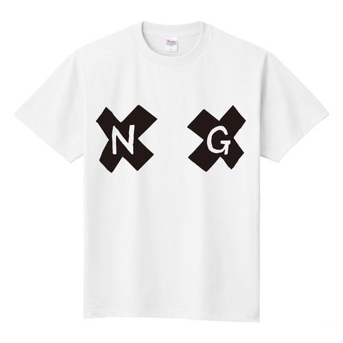 乳首NG Tシャツ 白