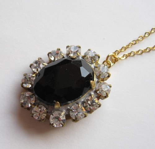 TheDelight antique Czech stone pendant(アンティーク チェコ ストーン ペンダント)⑭